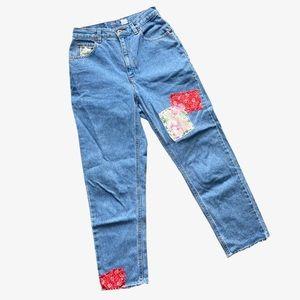 Vintage Reworked Mom Jeans Patchwork Thrift Flip